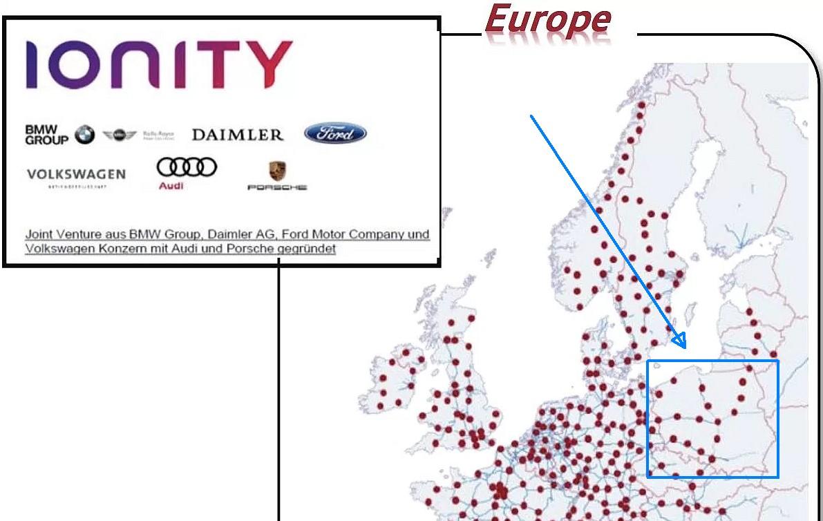 Siec Stacji Ladowania Ionity W Polsce Mapa Tylko 17 Ladowarek