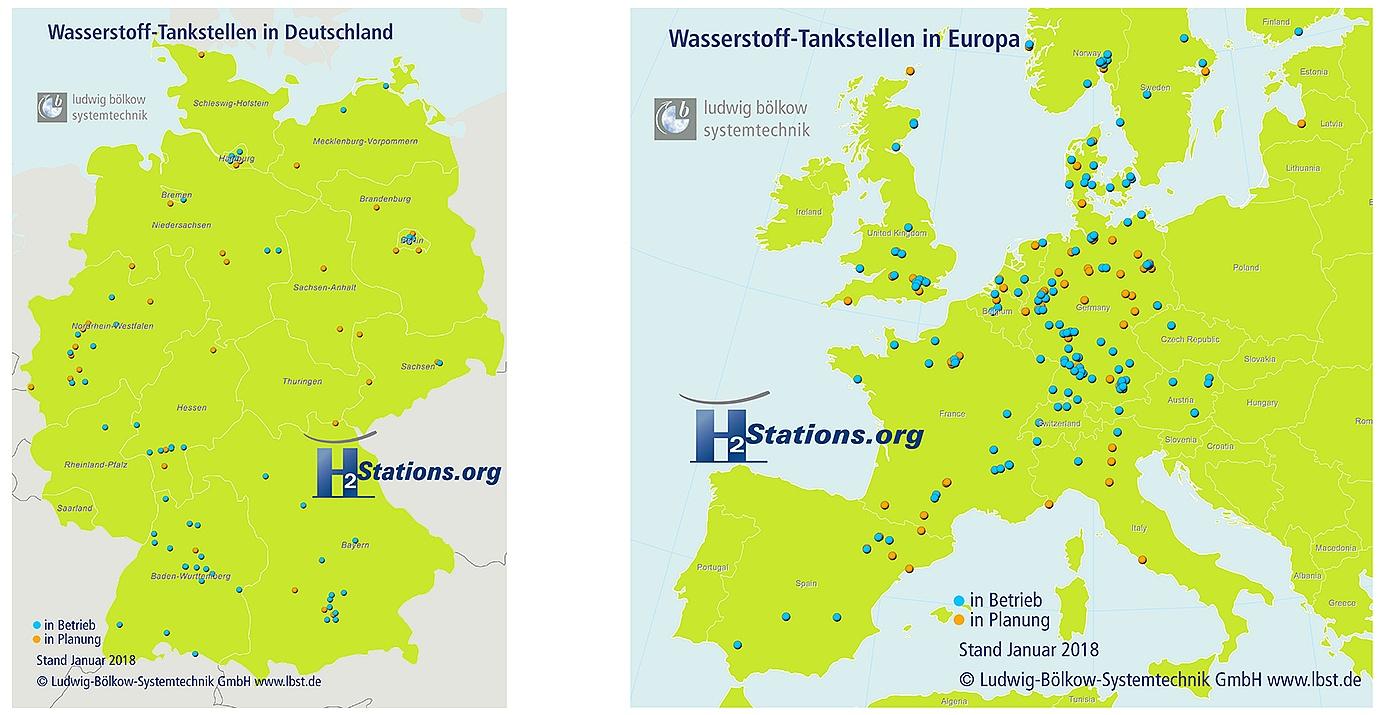 Stacje Tankowania Wodoru W Europie Mapa Najwiecej W Niemczech
