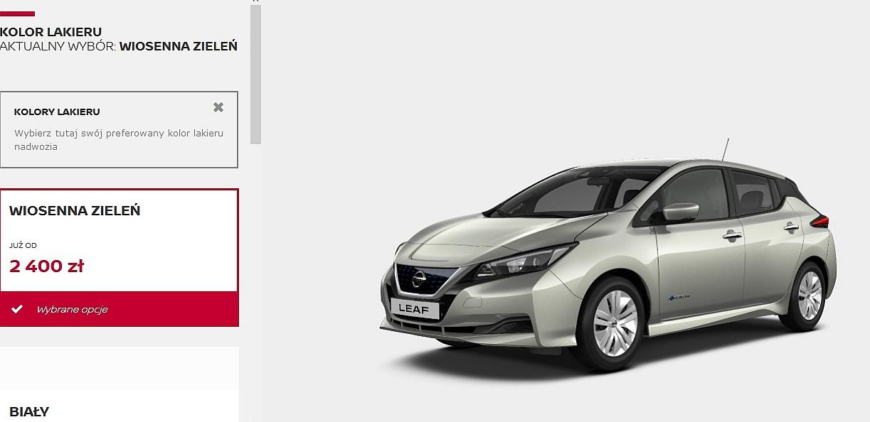 elektryczny nissan leaf 2018 dane techniczne cena testy wariant visia samochody. Black Bedroom Furniture Sets. Home Design Ideas