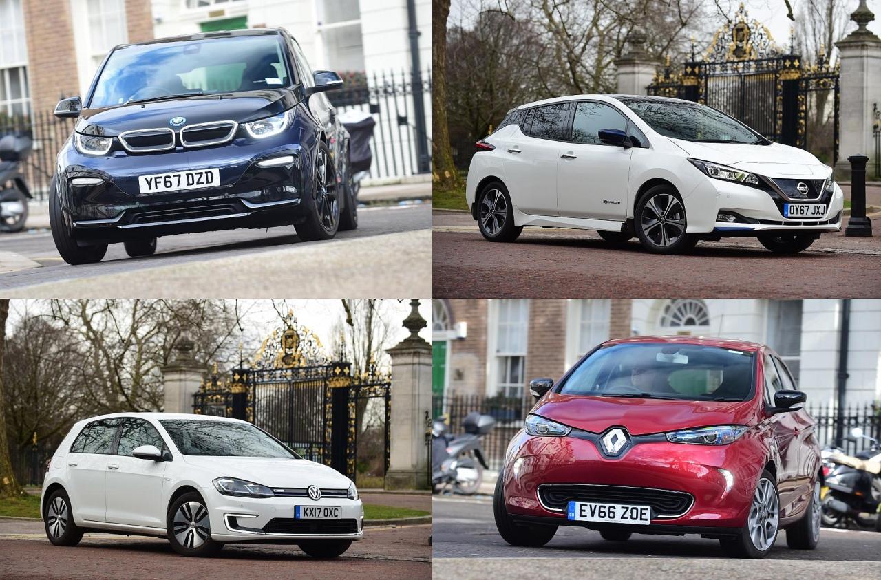 Resultado de imagem para Renault zoe vs VW e-Golf vs bmw i3