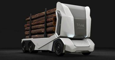 EinRIDE T-Log – autonomiczna elektryczna ciężarówka na chipach Nvidii