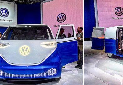 Elektryczne samochody dostawcze od VW: ID Buzz Cargo, ABT e-Transporter i… elektryczny rower VW