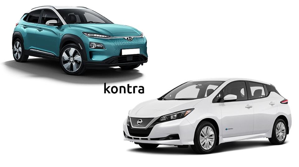 nissan leaf vs hyundai kona electric 39 kwh co wybra auto express kon electric za wi kszy. Black Bedroom Furniture Sets. Home Design Ideas